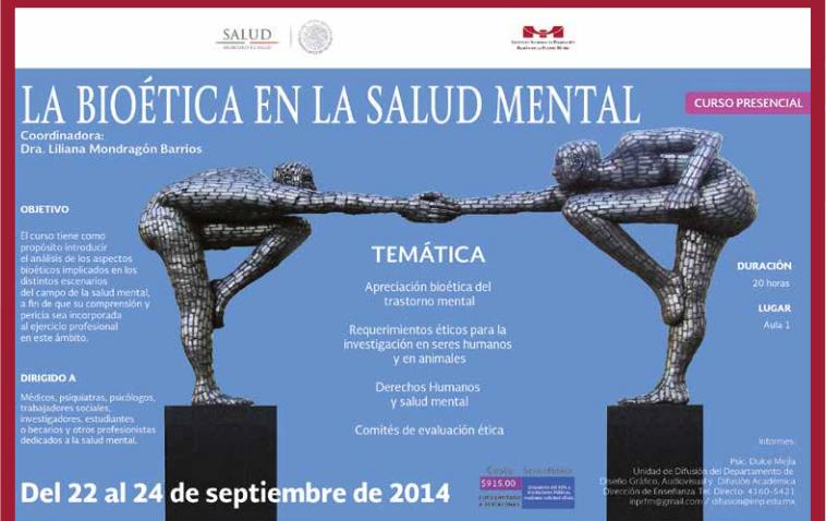 Curso La Bioética en la salud mental