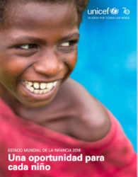 Unicef: Estado Mundial de la Infancia 2016